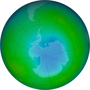Antarctic ozone map for 1987-06