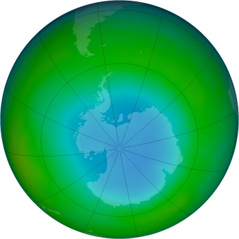 Antarctic ozone map for 1987-07