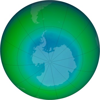 August 1987 monthly mean Antarctic ozone