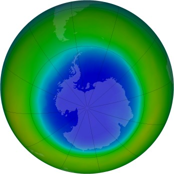 Antarctic ozone map for 1987-09