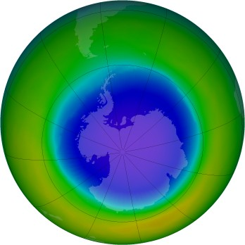 Antarctic ozone map for 1987-10