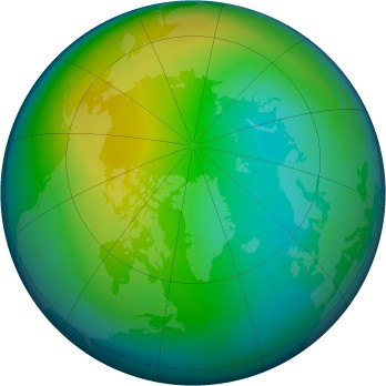 Arctic ozone map for 1987-11