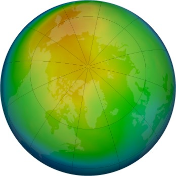 Arctic ozone map for 1987-12