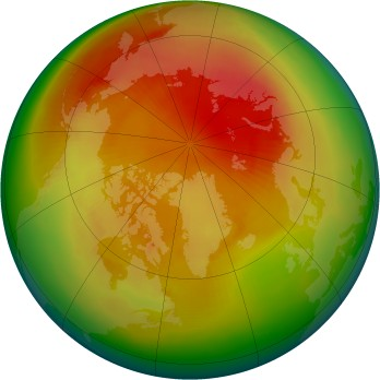 Arctic ozone map for 1988-04