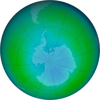 Antarctic ozone map for 1988-05