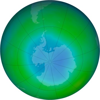 Antarctic ozone map for 1988-06