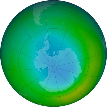 Antarctic ozone map for 1988-07