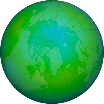 Arctic ozone map for 1988-08