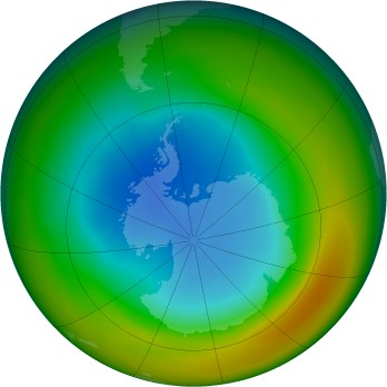Antarctic ozone map for 1988-08
