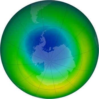 October 1988 monthly mean Antarctic ozone