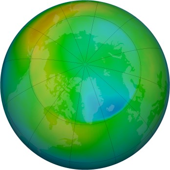 Arctic ozone map for 1988-12