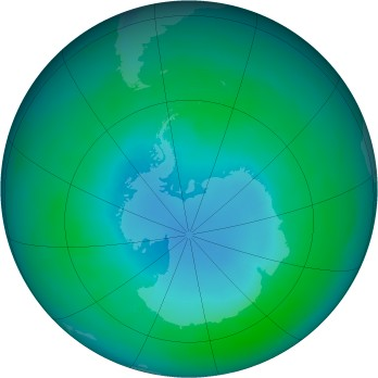 Antarctic ozone map for 1989-04
