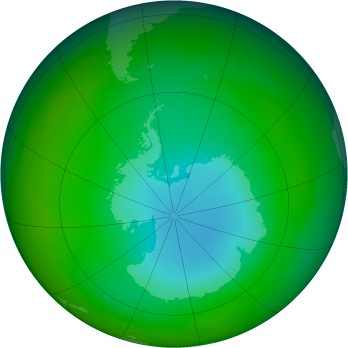 Antarctic ozone map for 1989-07