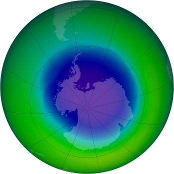 October 1989 monthly mean Antarctic ozone