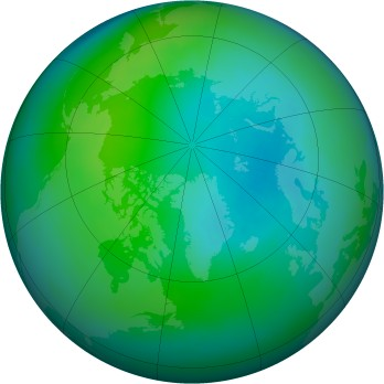 Arctic ozone map for 1989-10