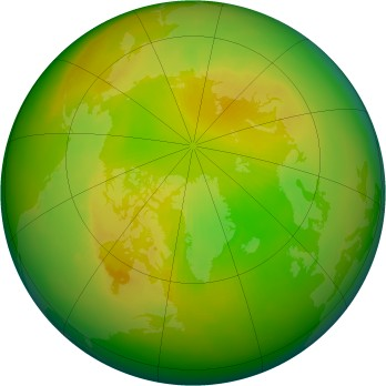 Arctic ozone map for 1990-05