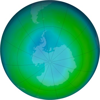 Antarctic ozone map for 1990-05
