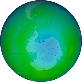 Antarctic ozone map for 1990-06