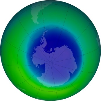 September 1990 monthly mean Antarctic ozone