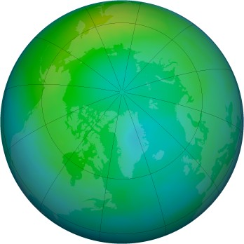 Arctic ozone map for 1990-11