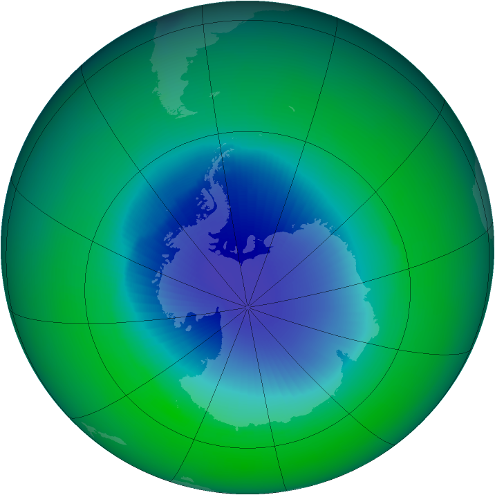 1990-November monthly mean Antarctic ozone