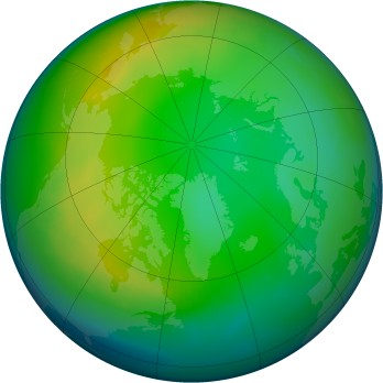 Arctic ozone map for 1990-12