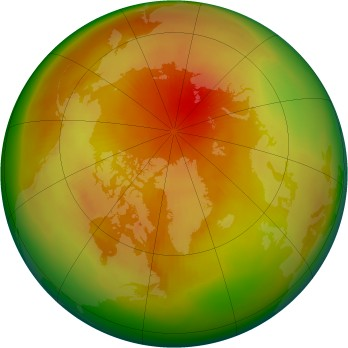 Arctic ozone map for 1991-04