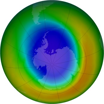 Antarctic ozone map for 1991-10