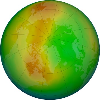 Arctic ozone map for 1992-02
