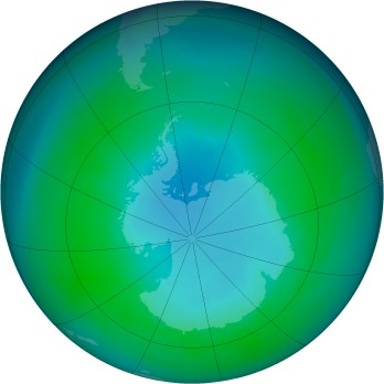 Antarctic ozone map for 1992-04