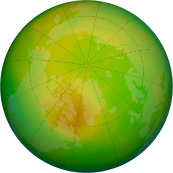 Arctic ozone map for 1992-05