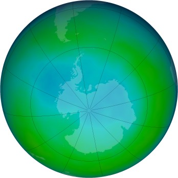 Antarctic ozone map for 1992-05