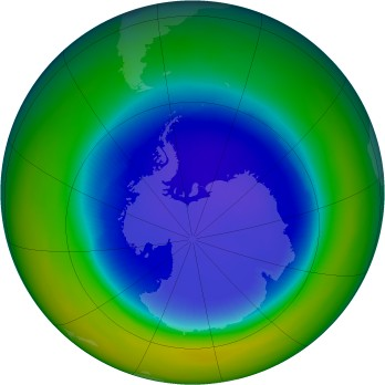 Antarctic ozone map for 1992-09