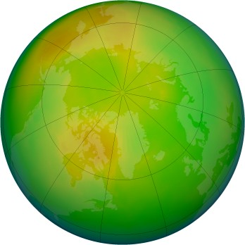 Arctic ozone map for 1993-04