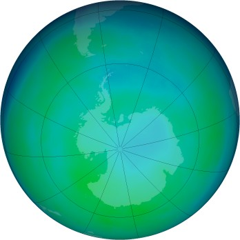 Antarctic ozone map for 1993-05