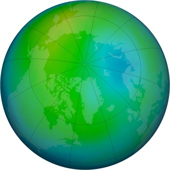 Arctic ozone map for 1993-11