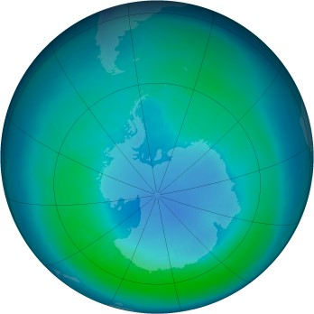 Antarctic ozone map for 1994-04