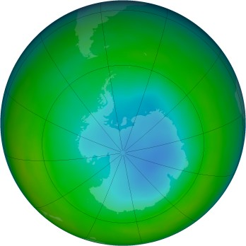 Antarctic ozone map for 1994-07