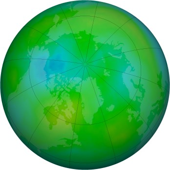 Arctic ozone map for 1994-08
