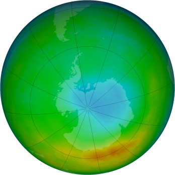 Antarctic ozone map for 1994-08