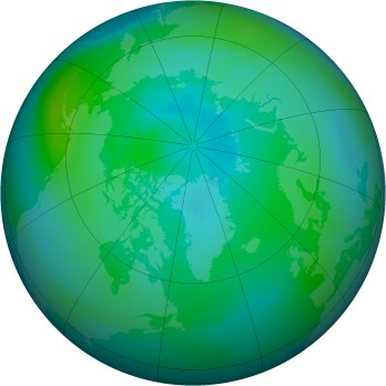 Arctic ozone map for 1994-09