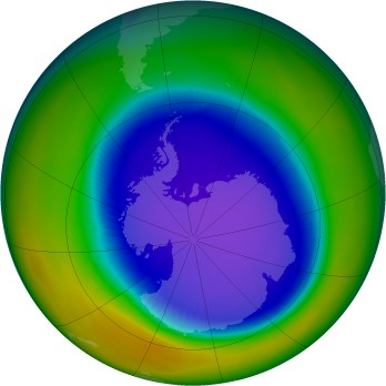 Antarctic ozone map for 1994-09