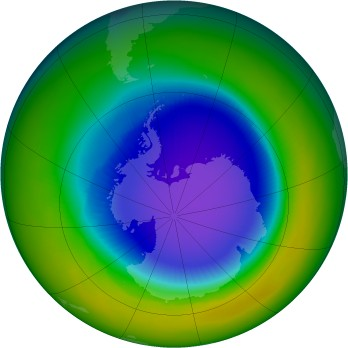 Antarctic ozone map for 1994-10