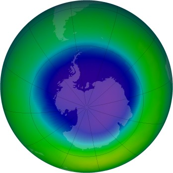 September 1996 monthly mean Antarctic ozone