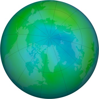 Arctic ozone map for 1996-09