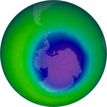 October 1996 monthly mean Antarctic ozone