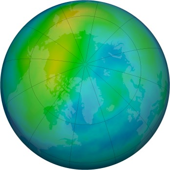 Arctic ozone map for 1996-11