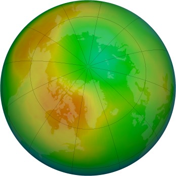 Arctic ozone map for 1997-04