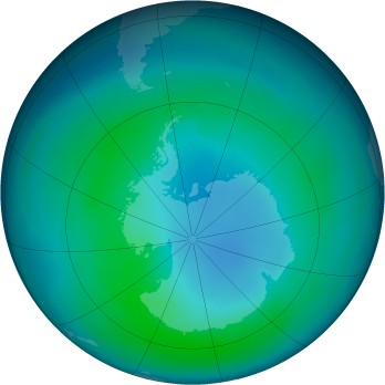 Antarctic ozone map for 1997-04