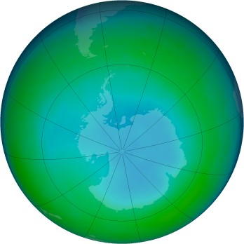 Antarctic ozone map for 1997-07